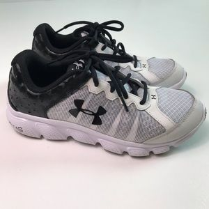 Under Armour Assert Black White Sneakers Shoes